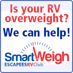 Our program provides accurate individual wheel weights for your RV, toad, and tow vehicle, and will help you trim the pounds if you need to.